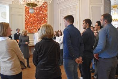 Elysée - Rencontre avec Mme Macron
